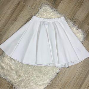 ASOS White Mini Skater Skirt Size 10
